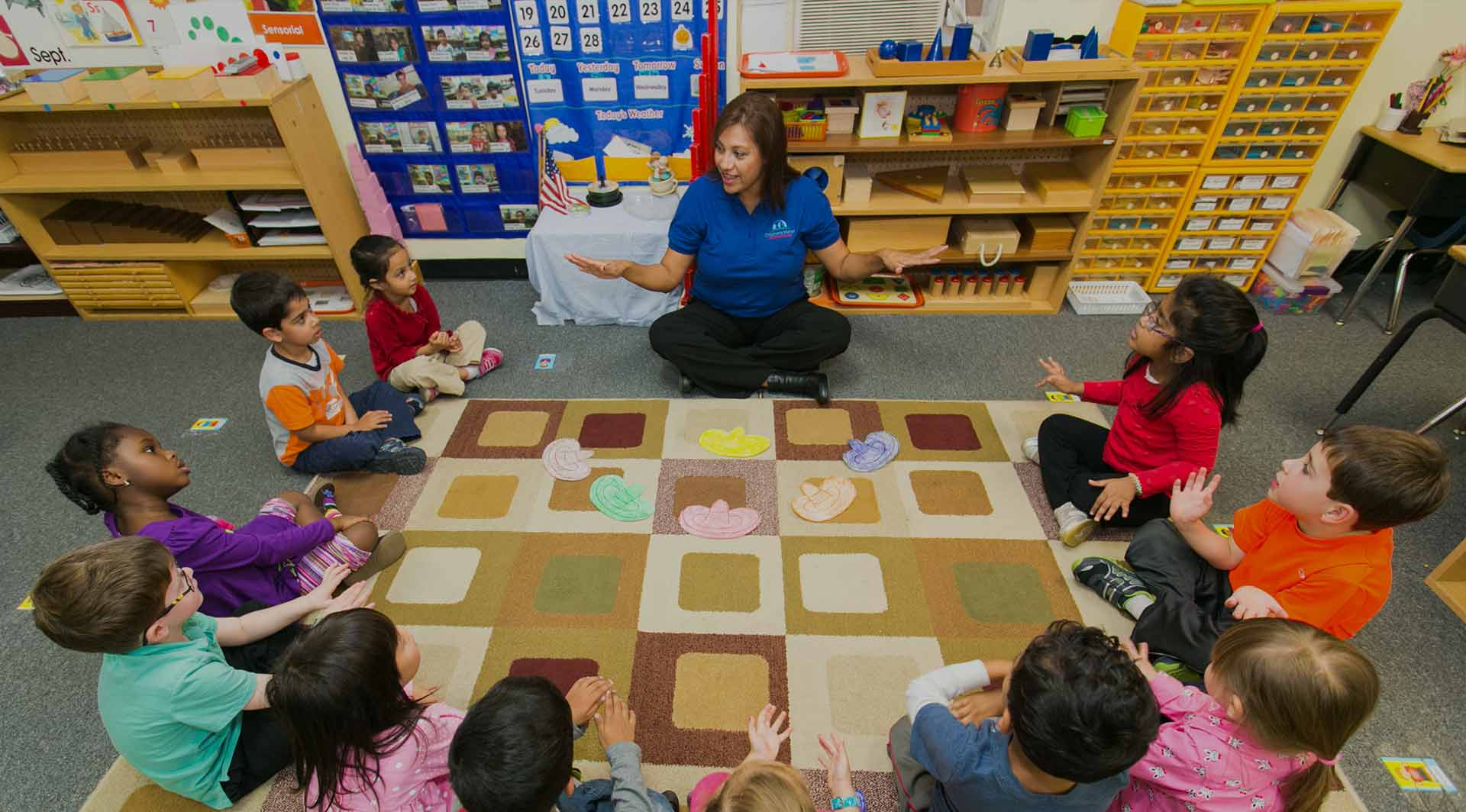 Children learning at Children's Magnet Montessori School.
